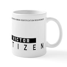 Victor Citizen Barcode, Small Mug