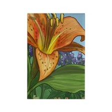 Tiger Lily Journal Rectangle Magnet