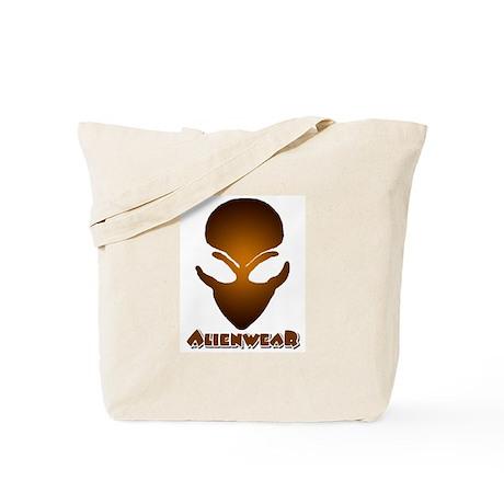 Brown Alien w/Logo Tote Bag
