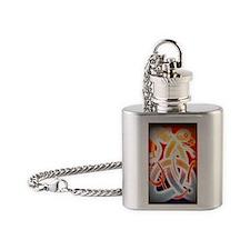 celtic knot dog Flask Necklace