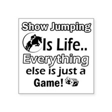 "Show Jumping Square Sticker 3"" x 3"""
