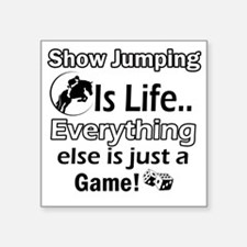 """Show Jumping Square Sticker 3"""" x 3"""""""