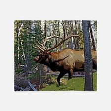 Bell Elk 3 Throw Blanket