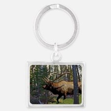 Bell Elk 3 Landscape Keychain