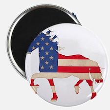 American Flag Friesian Horse Magnet