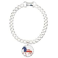 American Flag Friesian H Bracelet