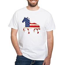 American Flag Friesian Horse Shirt