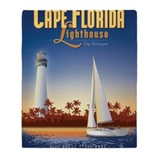 Cape Florida Travel Poster Mini Throw Blanket