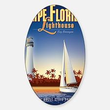 Cape Florida Travel Poster Mini Sticker (Oval)