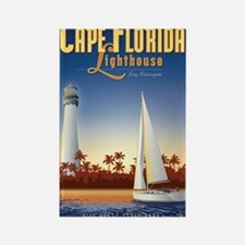 Cape Florida Travel Poster Mini Rectangle Magnet