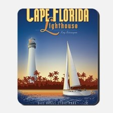 Cape Florida Travel Poster Mini Mousepad