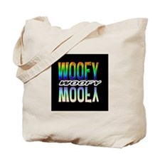 WOOFY-RAINBOW MIRROR TEXT/BLK Tote Bag