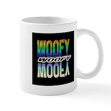 WOOFY-RAINBOW MIRROR TEXT/BLK Mug