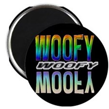 WOOFY-RAINBOW MIRROR TEXT/BLK Magnet