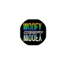 WOOFY-RAINBOW MIRROR TEXT/BLK Mini Button
