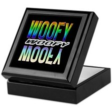 WOOFY-RAINBOW MIRROR TEXT/BLK Keepsake Box