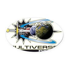 Multiverse news Logo highlighted Oval Car Magnet