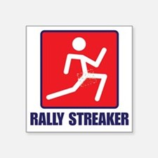 "Rally Streaker Square Sticker 3"" x 3"""