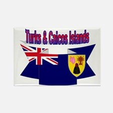 Turks & Caicos Islands flag ribbon Rectangle Magne