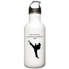 roundhouse kick Sports Water Bottle
