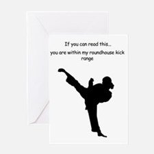 roundhouse kick Greeting Card
