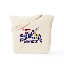 US Virgin Islands flag fan Tote Bag