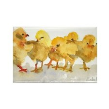 Baby Chicks Rectangle Magnet