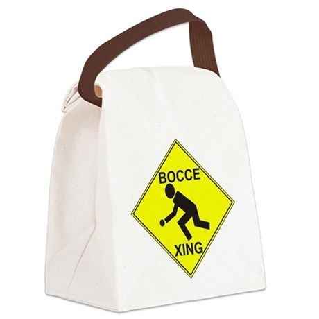 BocceXing Canvas Lunch Bag