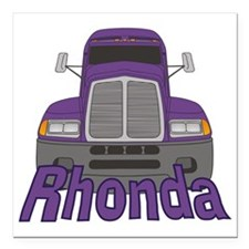 "rhonda-g-trucker Square Car Magnet 3"" x 3"""