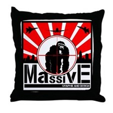 Massive GPX and Design T Throw Pillow