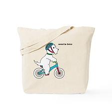 westie bmx Tote Bag