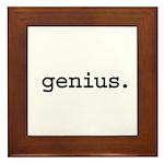 genius. Framed Tile
