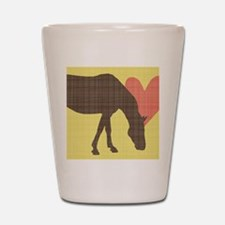 Horse Grazing Shot Glass