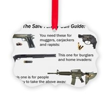 Safe Family Gun Guide Ornament