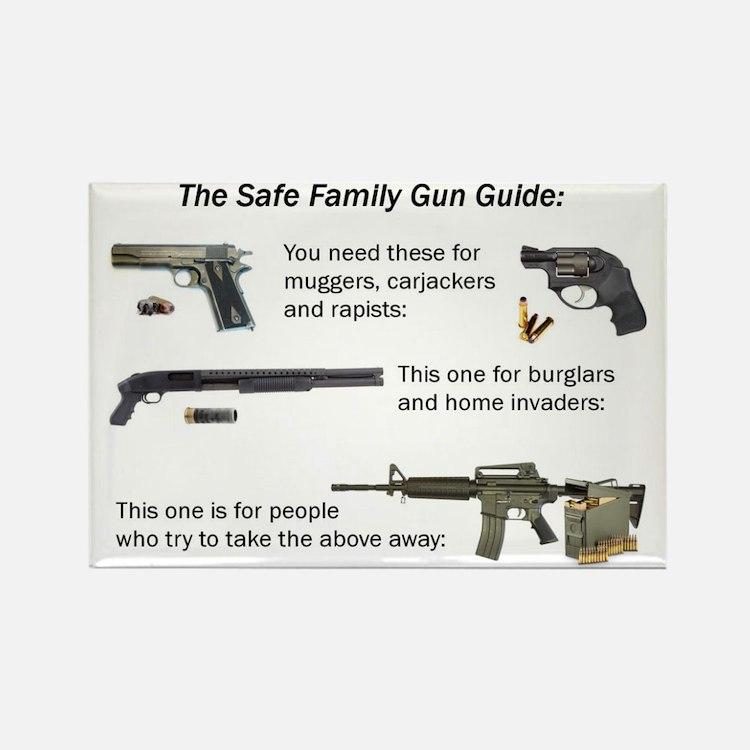 Safe Family Gun Guide Rectangle Magnet