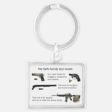 Safe Family Gun Guide Landscape Keychain