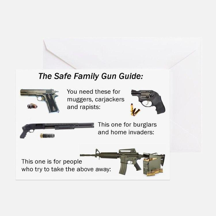 Safe Family Gun Guide Greeting Card