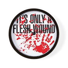 flesh wound Wall Clock