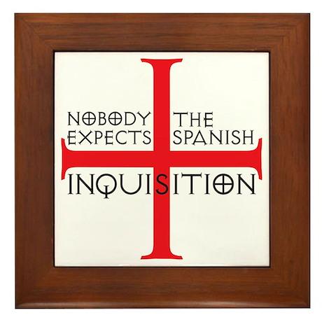 spanish inquisition Framed Tile
