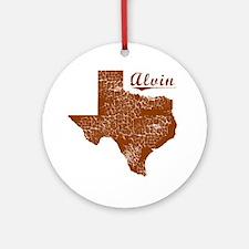 Alvin, Texas (Search Any City!) Round Ornament