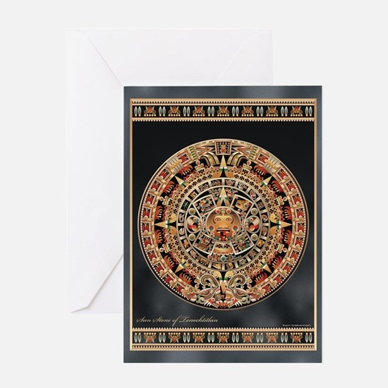 Sun Stone of Ancient Tenochtitlan Greeting Card
