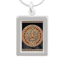 Sun Stone of Ancient Ten Silver Portrait Necklace