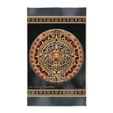 Sun Stone of Ancient Tenochtitlan 3'x5' Area Rug