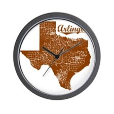 Arlington, Texas (Search Any City!) Wall Clock
