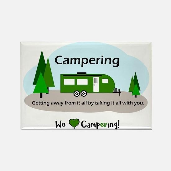 Funny Happy camper t Rectangle Magnet