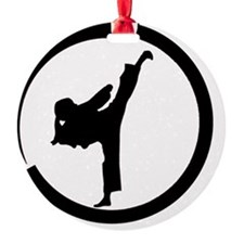 Tang Soo Do girl in circle Ornament