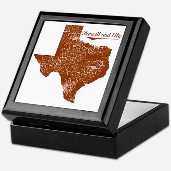Bausell and Ellis, Texas. Vintage Keepsake Box