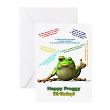 Lots of Froggy Jokes Birthday Card Greeting Cards