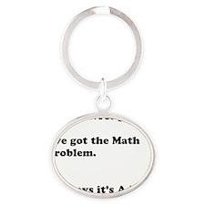 ADD Problem Oval Keychain