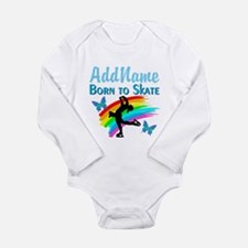 BORN TO SKATE Long Sleeve Infant Bodysuit
